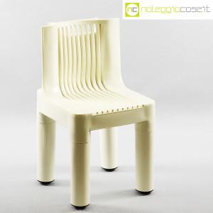 Kartell, sedia per bambini bianca K1340, Marco Zanuso, Richard Sapper (1)