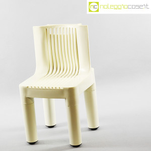 Kartell, sedia per bambini bianca K1340, Marco Zanuso, Richard Sapper (3)