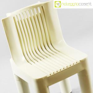 Kartell, sedia per bambini bianca K1340, Marco Zanuso, Richard Sapper (5)