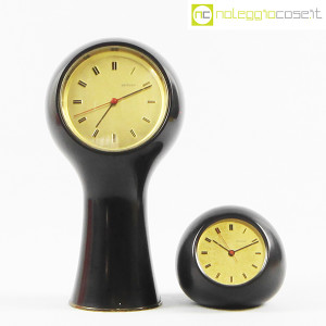 Secticon, orologi da tavolo T1 e T2 nero, Angelo Mangiarotti (2)