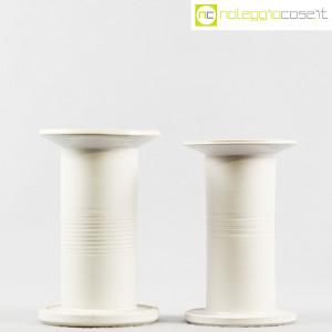 Ceramiche Bucci, vasi colonna bianchi, Franco Bucci (2)