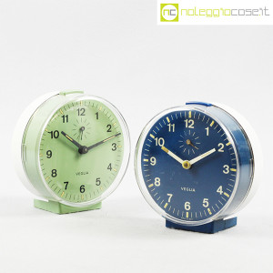 Veglia, orologi da tavolo verde e blu Polaris, Rodolfo Bonetto (1)