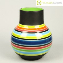 Vaso ceramica anni '70 colorato