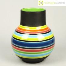 Vaso a strisce anni '70 in ceramica