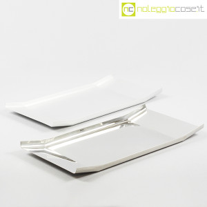 Danese Milano, vassoio Arran inox e alluminio, Enzo Mari (1)