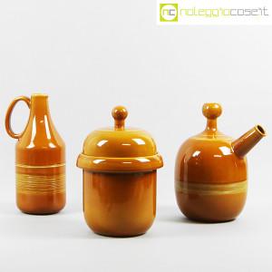 Ceramiche Franco Pozzi, coppia caraffe e contenitore, Ambrogio Pozzi (1)