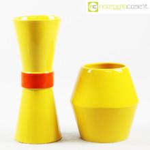 Rometti coppia vasi gialli