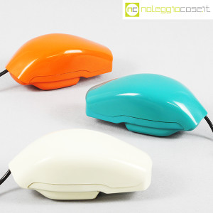 Auso Siemens, telefono Grillo turchese, bianco e arancione, Marco Zanuso (1)