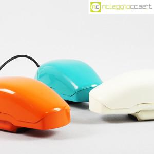 Auso Siemens, telefono Grillo turchese, bianco e arancione, Marco Zanuso (6)