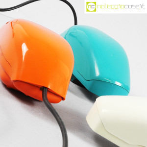 Auso Siemens, telefono Grillo turchese, bianco e arancione, Marco Zanuso (8)