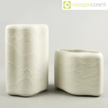 Coppia di vasi bianchi porcellana biscuit