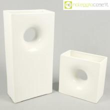 Gabbianelli coppia vasi bianchi con foro