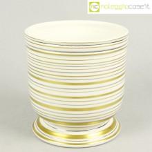 Ceramica bianco oro argento