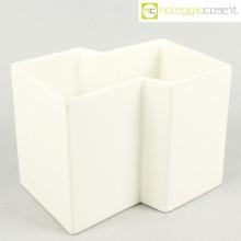 Gabbianelli vaso geometrico bianco