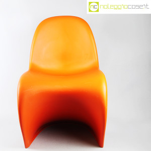 Vitra, sedia Panton Chair arancio, Verner Panton (5)