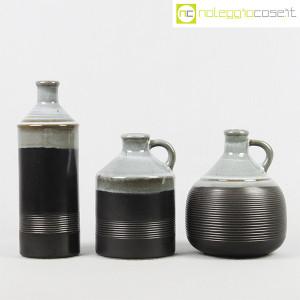 Ceramiche Bucci, bottiglia e coppia brocche, Franco Bucci (2)