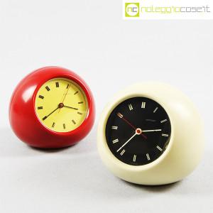 Secticon, orologio da tavolo T2 rosso e bianco, Angelo Mangiarotti (1)