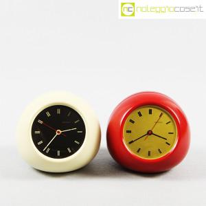 Secticon, orologio da tavolo T2 rosso e bianco, Angelo Mangiarotti (2)