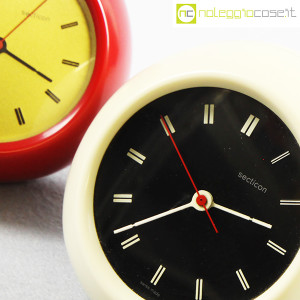Secticon, orologio da tavolo T2 rosso e bianco, Angelo Mangiarotti (8)