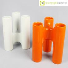 Ceramica componibile bianco arancio