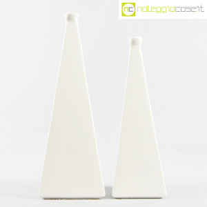 Milesi Ceramiche, coppia vasi a piramide (2)