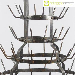 Scolabottiglie antico in metallo (9)