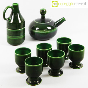 Ceramiche Franco Pozzi, caraffa e brocca con bicchieri, Ambrogio Pozzi (1)