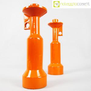 Il Picchio, coppia candelieri in ceramica arancione, Enzo Bioli (2)