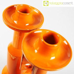Il Picchio, coppia candelieri in ceramica arancione, Enzo Bioli (8)