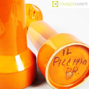 Il Picchio, coppia candelieri in ceramica arancione, Enzo Bioli (9)