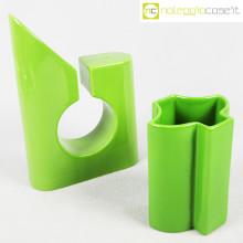 Coppia di vasi verdi in ceramica