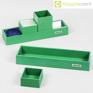 Olivetti, set da scrivania verde, Bruno Munari (1)