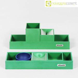 Olivetti, set da scrivania verde, Bruno Munari (2)