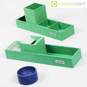 Olivetti, set da scrivania verde, Bruno Munari (3)