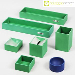 Olivetti, set da scrivania verde, Bruno Munari (5)