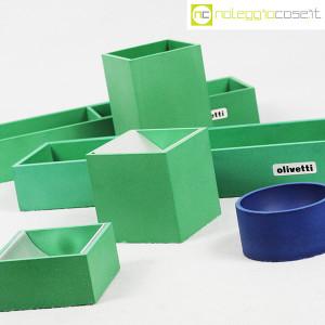 Olivetti, set da scrivania verde, Bruno Munari (6)