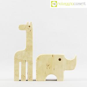 Elefante e giraffa in travertino (2)