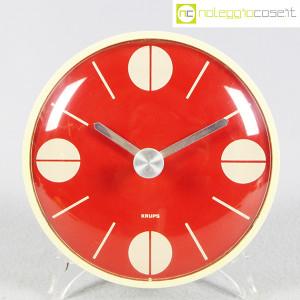Krups, orologio da muro quadrante rosso (1)