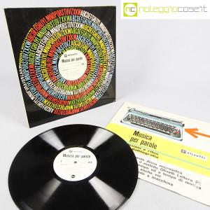 Olivetti, disco LP 33 giri Musica per parole, grafica Marcello Nizzoli (2)