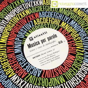 Olivetti, disco LP 33 giri Musica per parole, grafica Marcello Nizzoli (5)