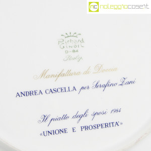 Richard Ginori, Piatto degli Sposi, Andrea Cascella (9)
