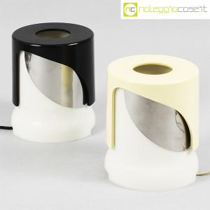 Kartell, lampada KD24 bianca e nera, Joe Colombo (1)