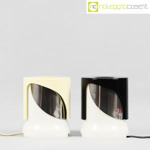 Kartell, lampada KD24 bianca e nera, Joe Colombo (2)
