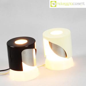 Kartell, lampada KD24 bianca e nera, Joe Colombo (3)
