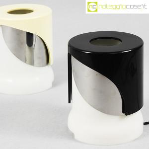 Kartell, lampada KD24 bianca e nera, Joe Colombo (5)