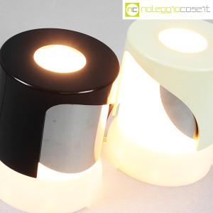 Kartell, lampada KD24 bianca e nera, Joe Colombo (7)