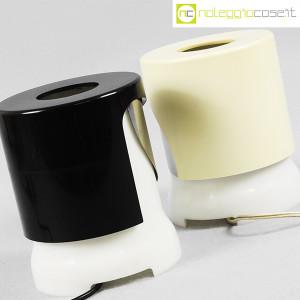 Kartell, lampada KD24 bianca e nera, Joe Colombo (8)