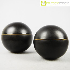 Ceramiche Bucci, coppia oggetti sferici, Franco Bucci (1)