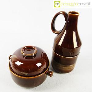 Ceramiche Franco Pozzi, brocca e contenitore marroni, Ambrogio Pozzi (2)