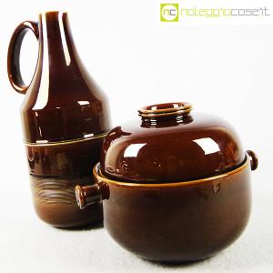 Ceramiche Franco Pozzi, brocca e contenitore marroni, Ambrogio Pozzi (3)